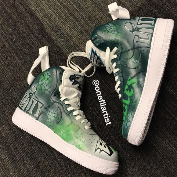 Shoes   Custom Eagles Sneakers   Poshmark
